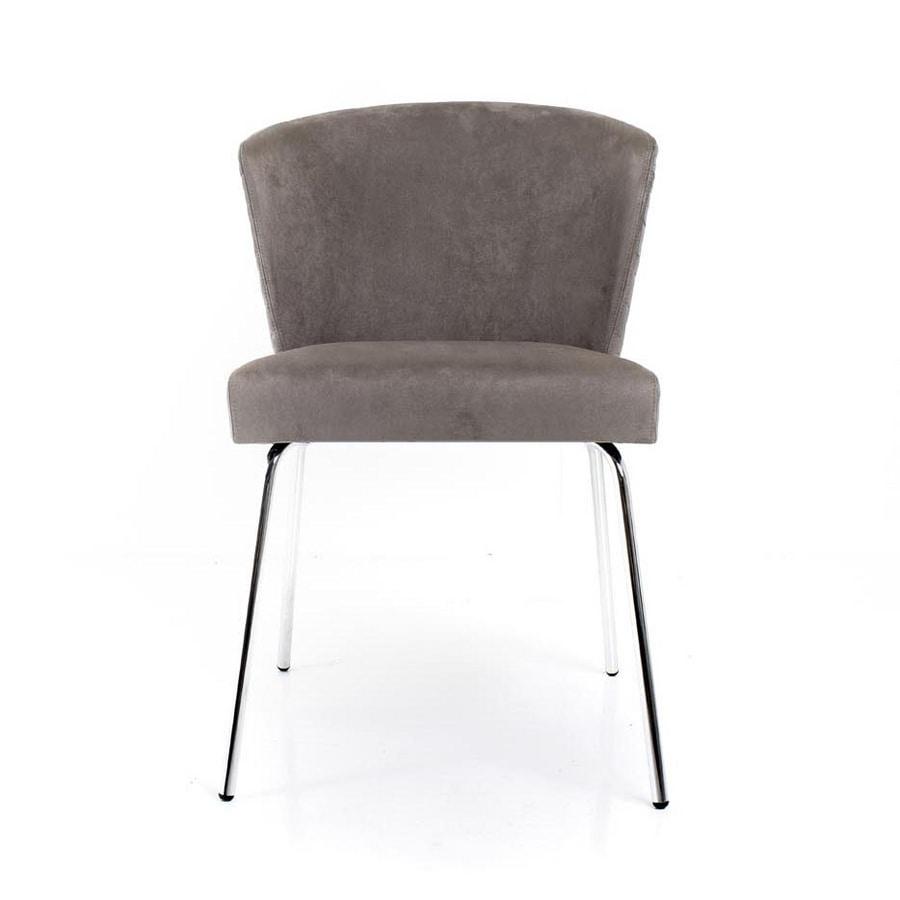 Anastacia, Padded chair, with customizable base