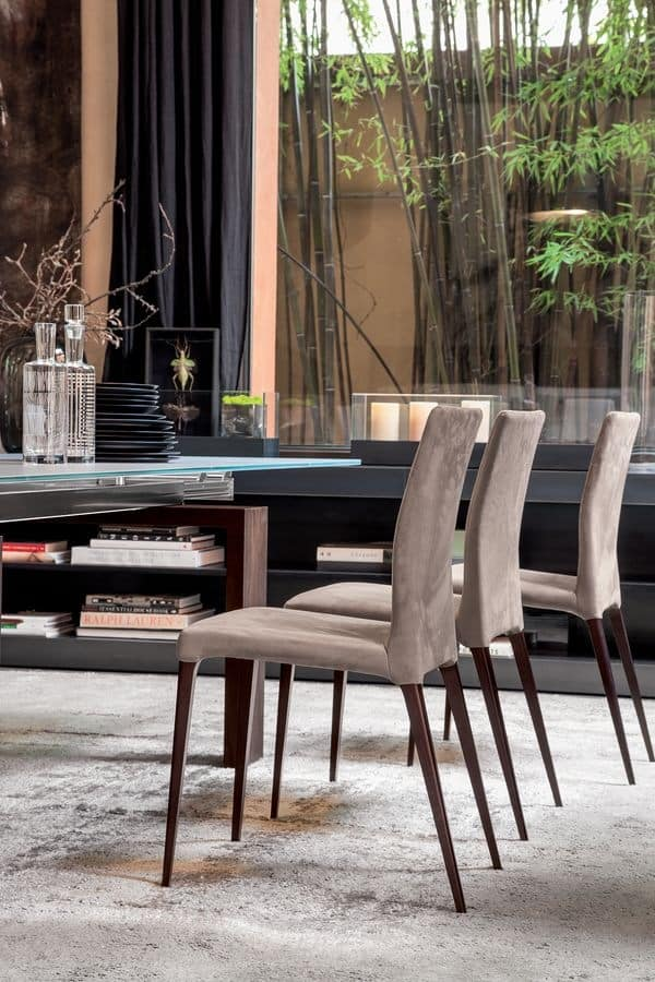 ARAGONA, Modern chair with upholstered body, for kitchen and dining room