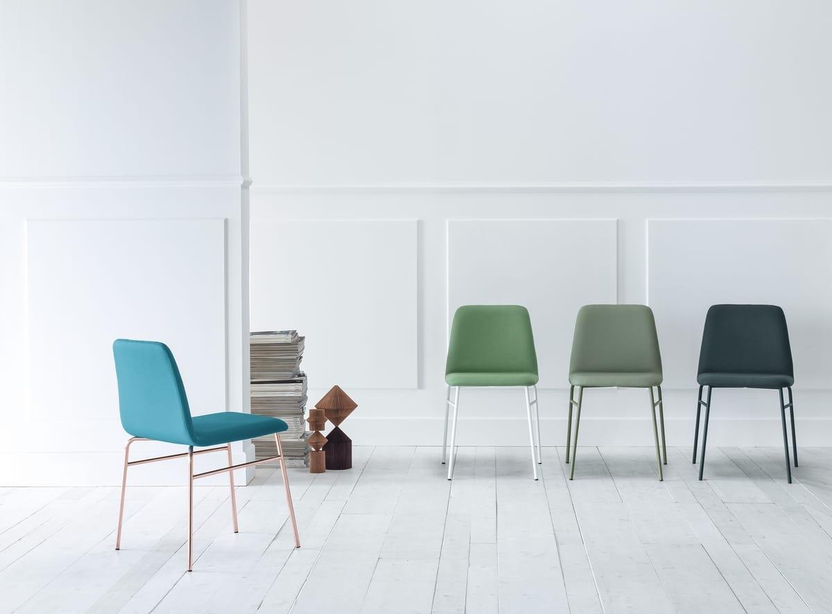 ART. 0033-MET-TU BARDOT, Upholstered chair with metal legs
