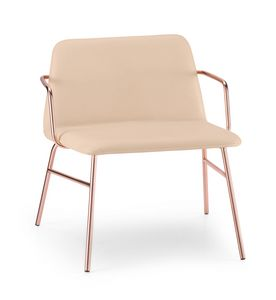 ART. 0035-MET-TU-CB BARDOT, Upholstered lounge chair with armrests
