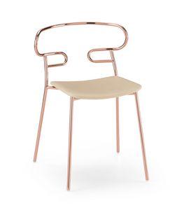 ART. 0047-MET -IM GENOA, Stackable chair with metal structure