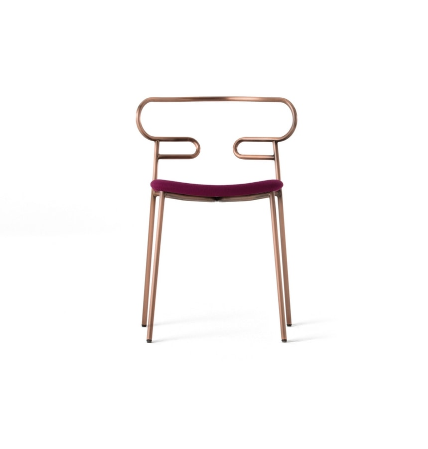 ART. 0047-MET-IM GENOA, Stackable chair with metal structure