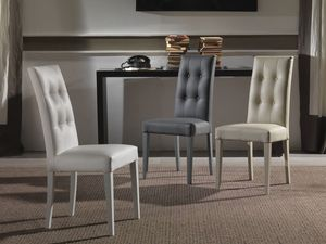 Art. 123 Four Seasons, Upholstered chair with tufted backrest, for hotels and restaurants