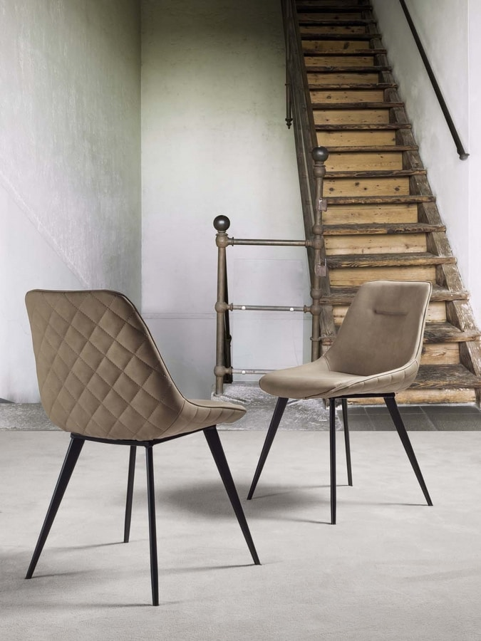Art. 210 Norway, Chair covered in nubuck faux leather