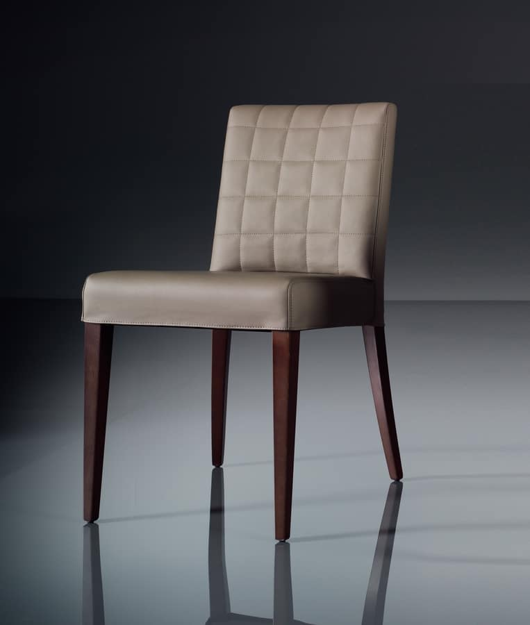 ART. 221 FLORANCE, Soft chair for the modern living room, in leather