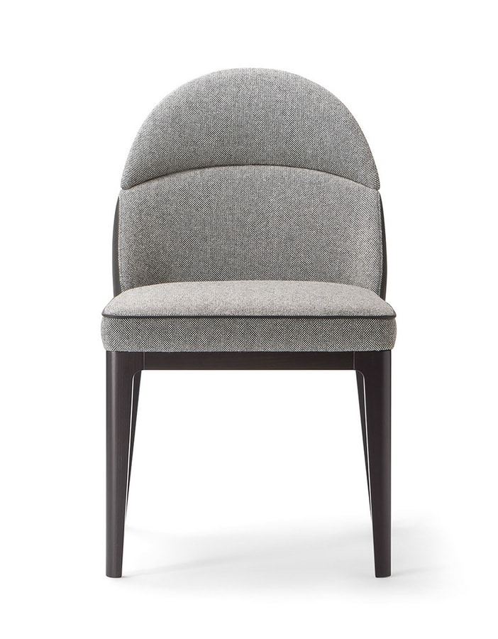 ASTON SIDECHAIR 062 S, Chair with sinuous shapes