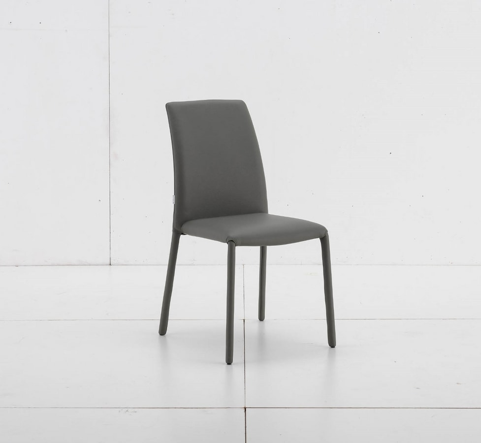 Bijou, Stackable chair fully upholstered