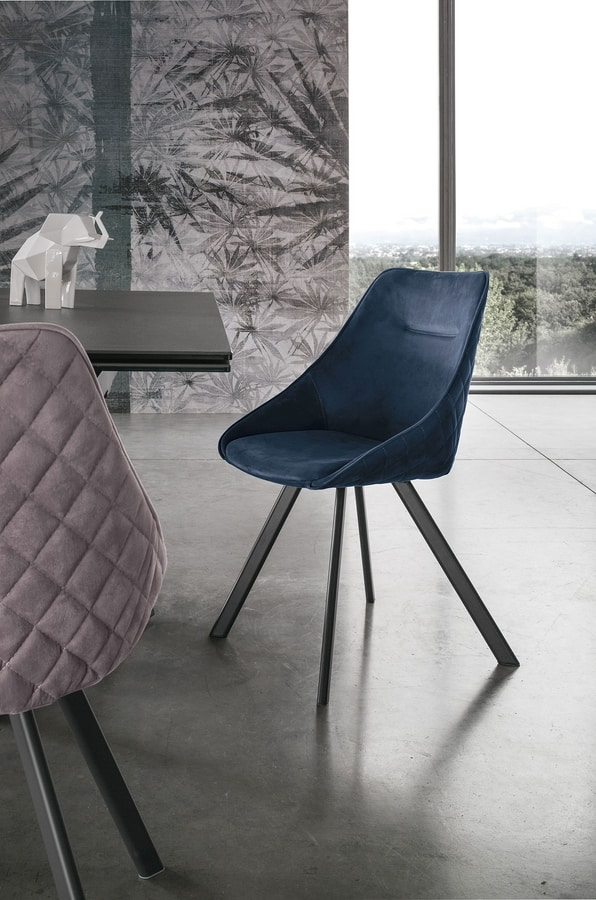 BILBAO SE194, Upholstered chair with enveloping shell