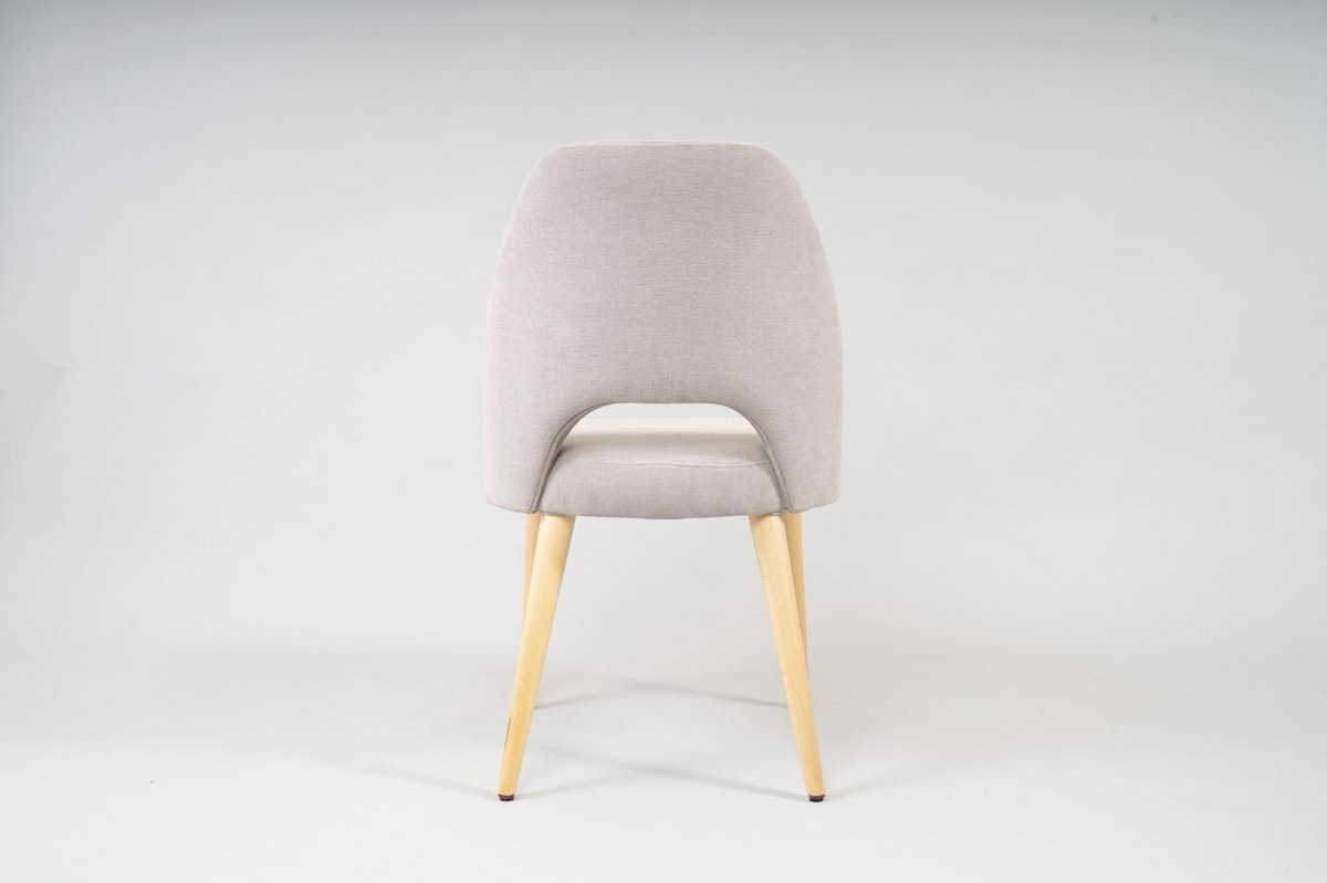 BS480S - Chair, Contemporary chair with fabric upholstery
