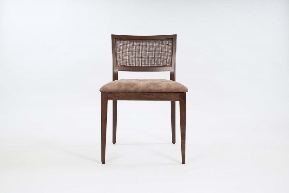 BS547S – Chair, Wooden chair with padded seat