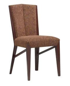 C30, Wooden chair, padded seat and back, for contract and domestic use