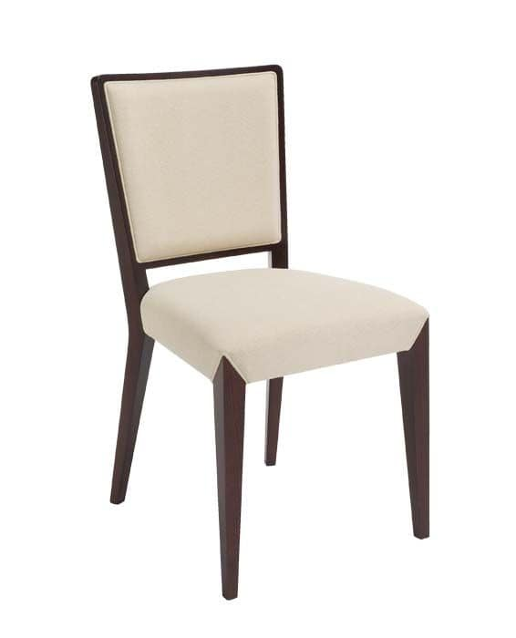 C37, Wooden chair, padded seat and back, for contract and domestic use