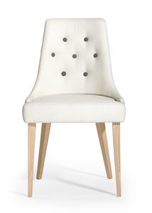 Daisy button, Upholstered chair, backrest decorated with buttons