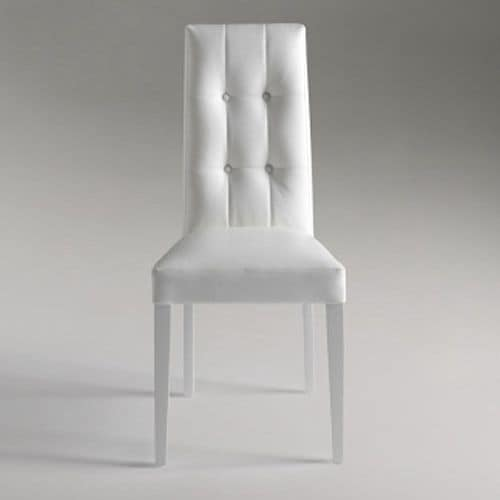 Dallas, Elegant dining chair with buttoned backrest