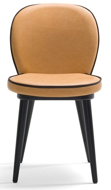 Dena-S, Restaurant chair with wooden legs