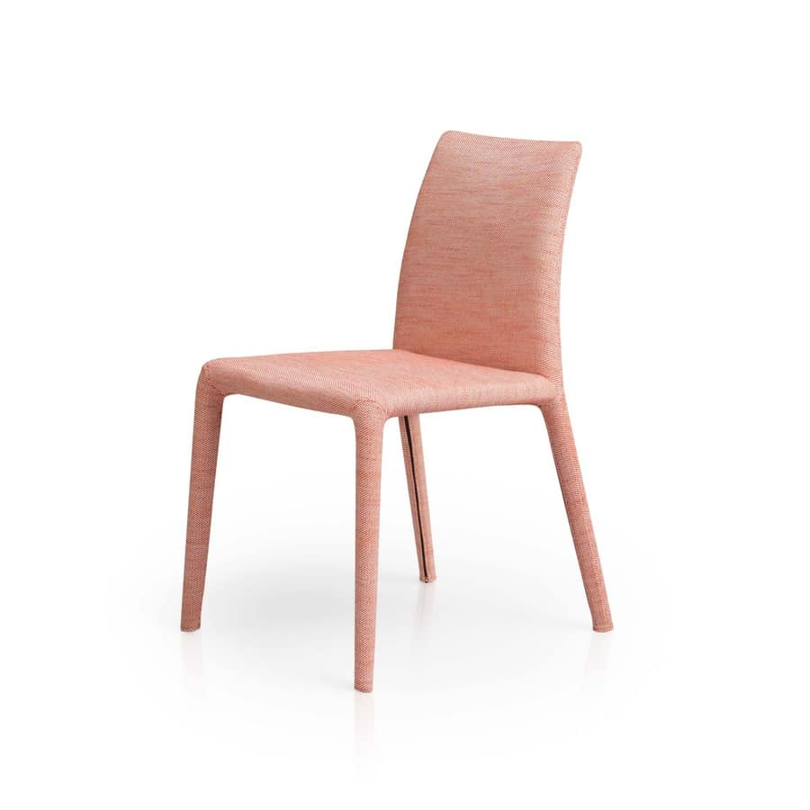 Emi, Modern chair, soft and versatile, padded
