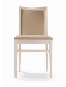 ER 440040, Modern wooden chair, with comfortable padding