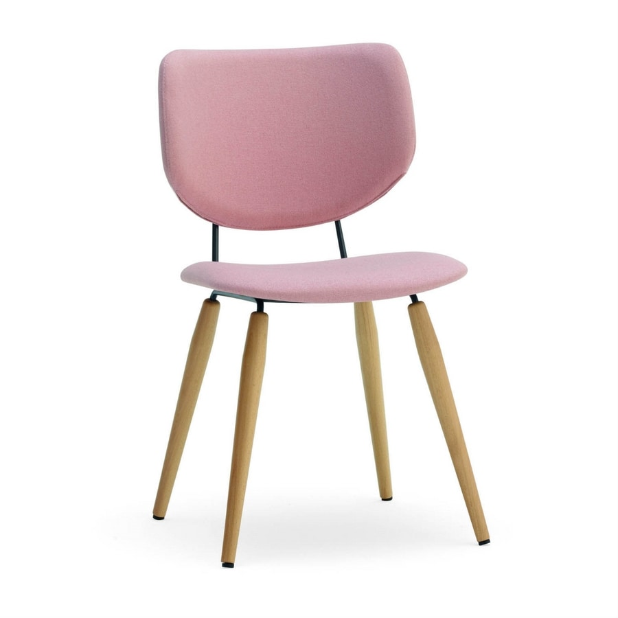 Jessica, Upholstered chair with wooden legs