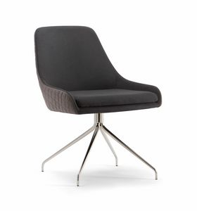 JO CHAIR 058 S Z, Upholstered chair with metal base