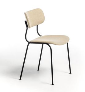 Kiyumi Fabric, Stackable chair with padded seat