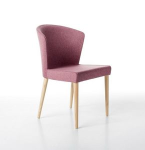 Kont� 4 legs, Elegant chair padded with polyurethane foam