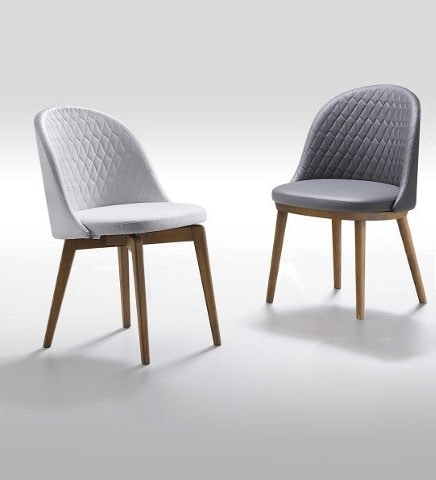 Lois, Chair in quilted fabric
