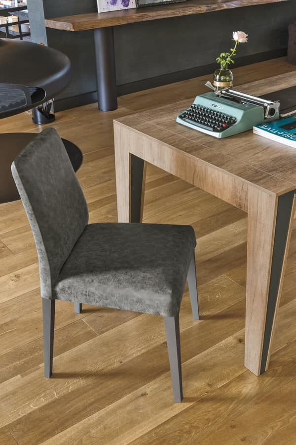 LUCERNA SE514, Modern chair made of solid wood with shell in soft touch