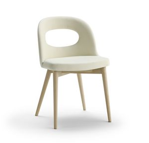 Mir�, Padded chair with a modern design