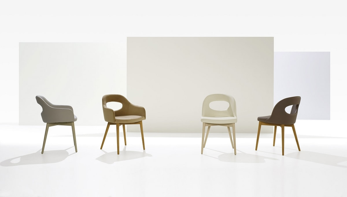 Mirò, Padded chair with a modern design