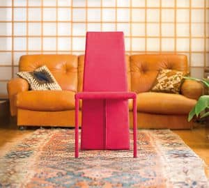 Motta, Chair fully covered, in square tubular