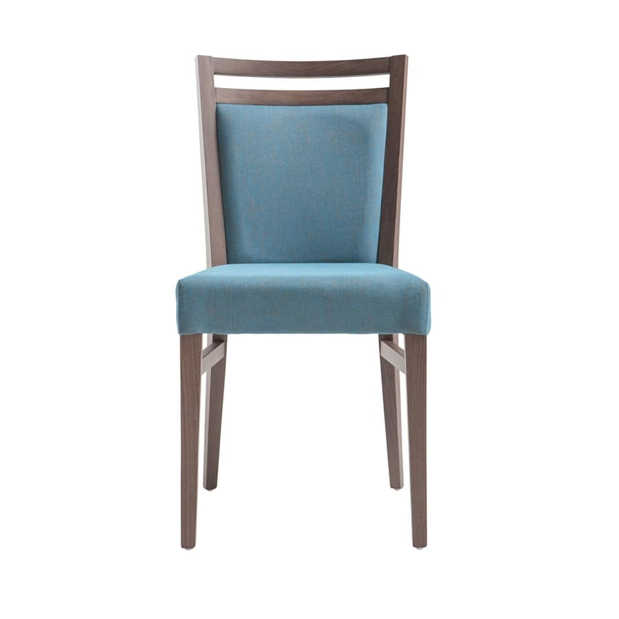 MP472F, Chair in wood, modern and padded