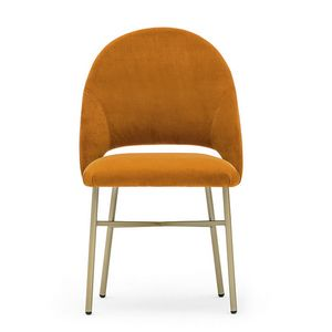Niky 04715, Chair with metal base, enveloping backrest
