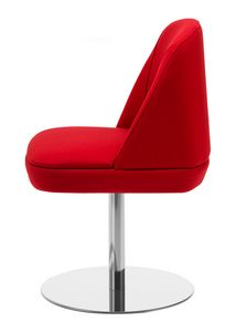 Noemi 1, Chair with round metal base