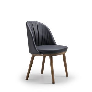 Rose, Modern chair, with rounded back