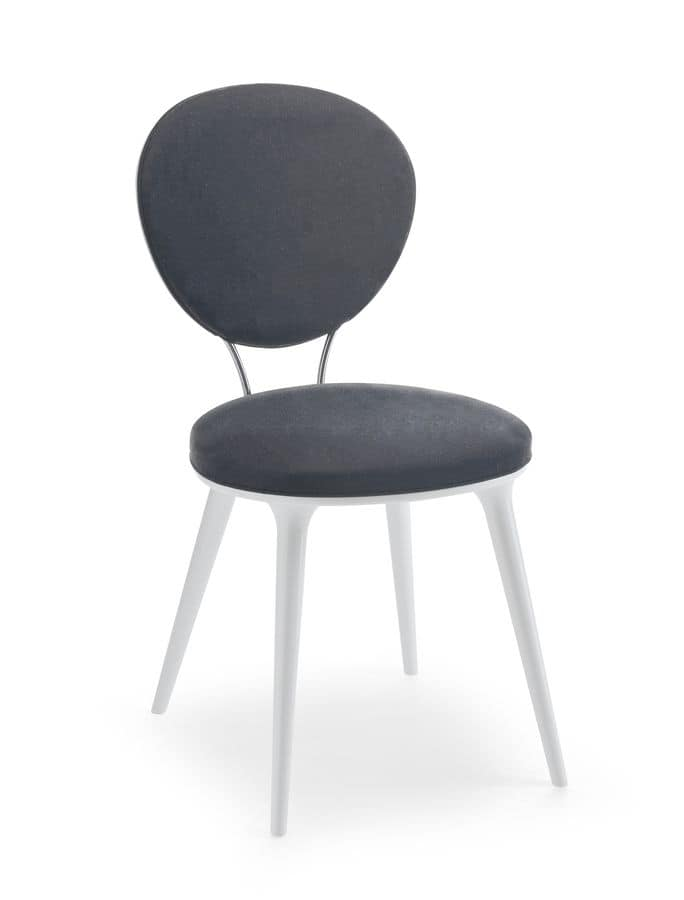 Sammy, Upholstered chair with round seat and back