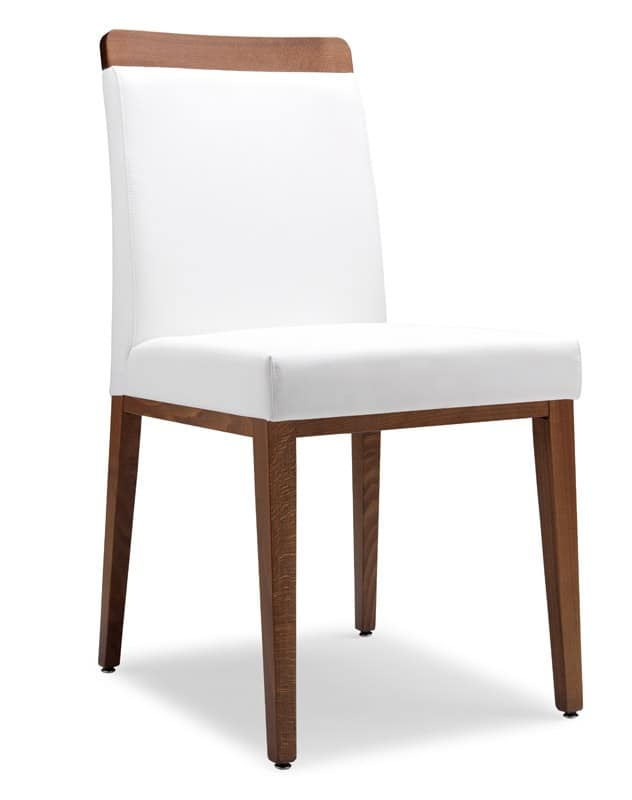 SE 49 / L, Chair covered in fabric, wooden frame, for bars