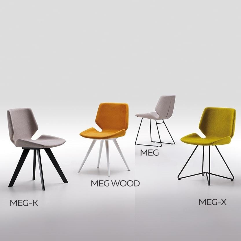 Meg-X, Chair with metal base