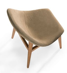 Simo, Upholstered chair with rounded shapes