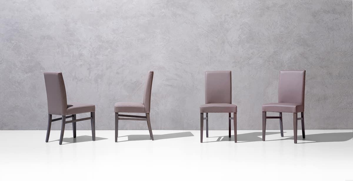 SLOT, Elegant padded chair for dining room