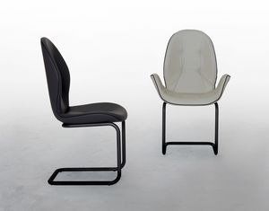 SORRENTO, Chair with or without armrests, with cantilever base