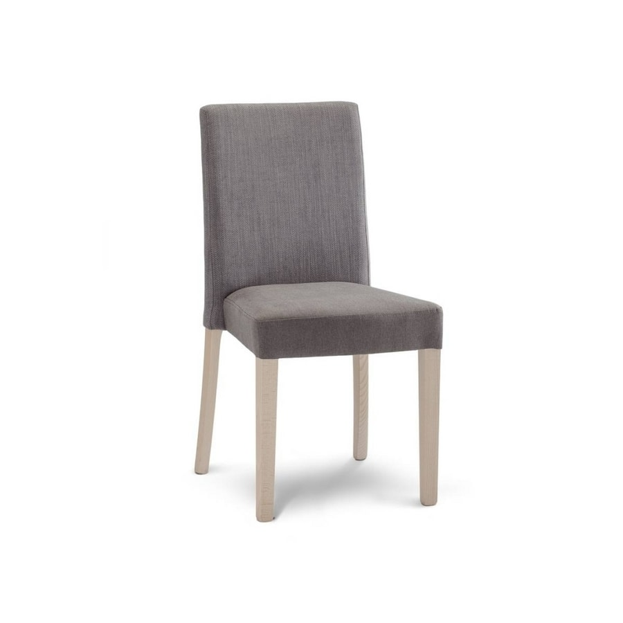 STK 300 H89, Padded wooden chair, stackable