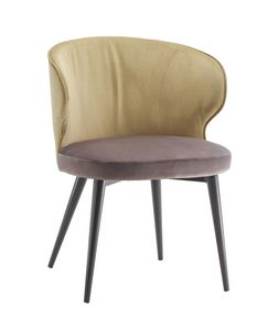 STOCCOLMA S, Chair with enveloping backrest