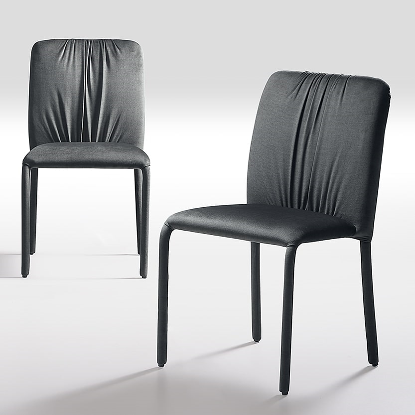 Sunrise, Chair characterized by the folds of the upholstery