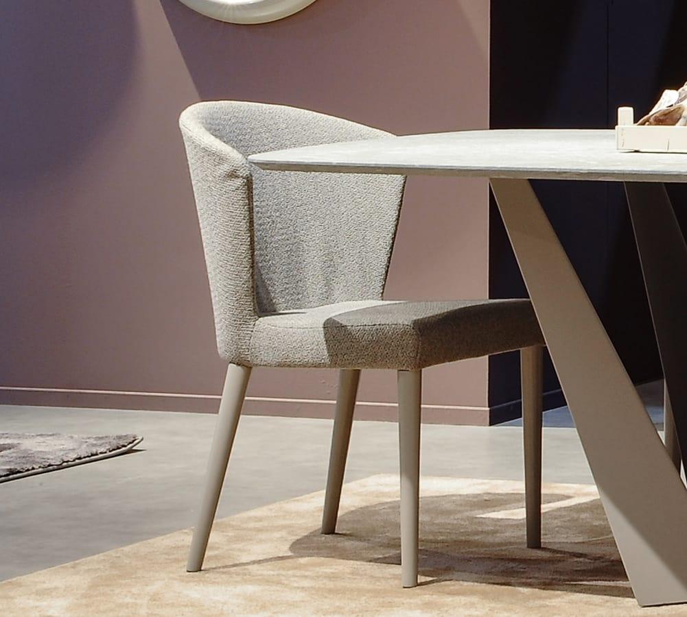 Tweet Art. 608, Modern chair with wraparound back