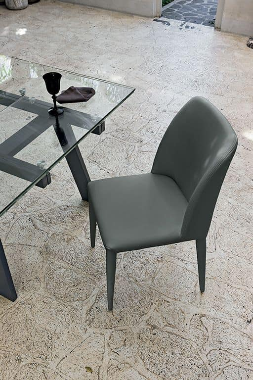 VIENNA SE608, Upholstered chair ideal for kitchen and dining room