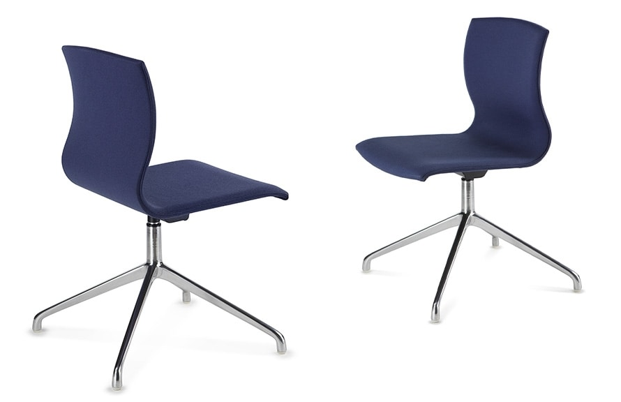 WEBWOOD 368Z, Modern chair with chrome base