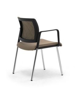 Wiki Tech 4G, Metal chair with armrests, with rhombus backrest