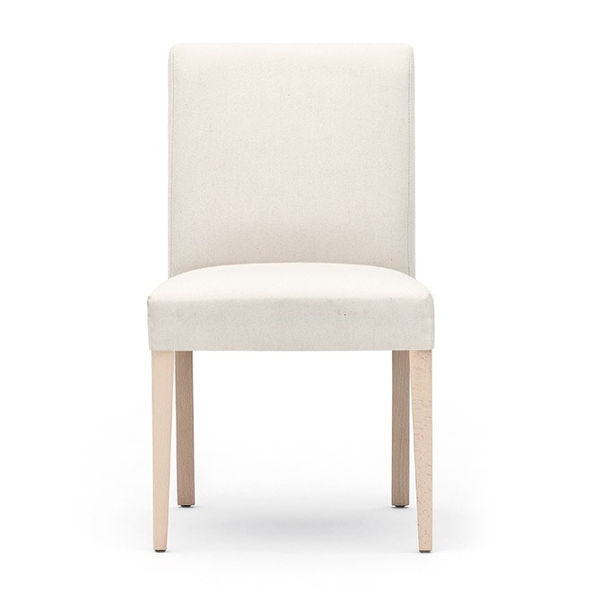 Zenith 01611, Chair with wooden frame, upholstered seat and back, fabric covering, for contract and domestic use