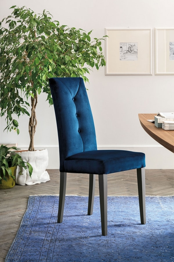 ZURIGO SE503, Modern chair with a high backrest upholstered