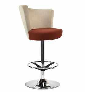 ELIPSE 10H, Upholstered stool with adjustable height